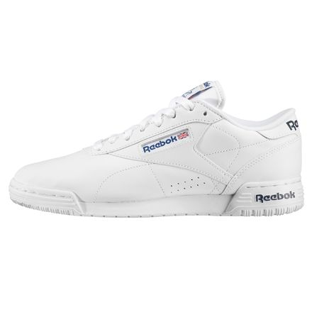 Reebok Ex-O-Fit Lo Clean Logo Int Men's Fitness Shoes in White / Royal Blue