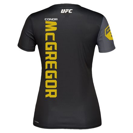 Reebok UFC Conor McGregor Jersey Women's MMA in Black / Gravel
