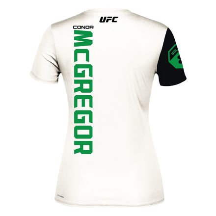 Reebok UFC Conor McGregor Jersey Women's MMA in Chalk / Black