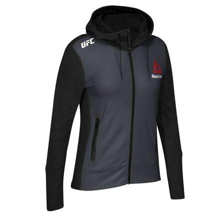 Reebok UFC Fight Kit Champion Walkout Hoodie Women's MMA in Black / Gravel