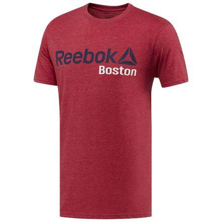 Reebok Boston Tee Men's Training T-Shirt in Heather Red