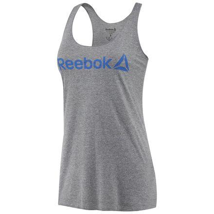 Reebok Linear Read Women's Training Tank Top in Heather Grey