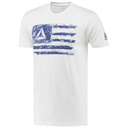 Reebok Delta Flag Tee Men's Training T-Shirt in White