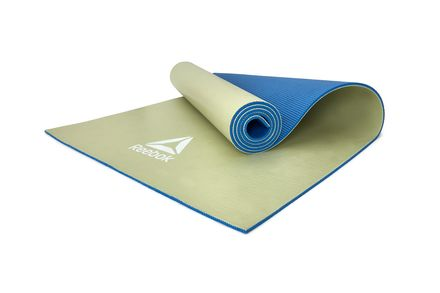 Reebok Double Sided 6mm Yoga mat – Blue / Green in Buzz Blue