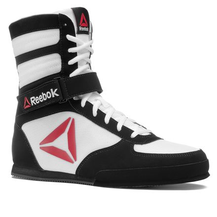 Reebok Boxing Boot - Buck Men's MMA Shoes in White / Black
