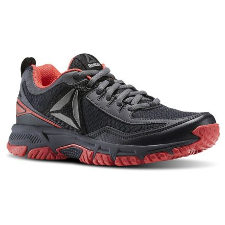 Reebok Ridgerider Trail 2.0 Women's Walking Shoes in Lead / Fire Coral / Ash Grey / Pewter