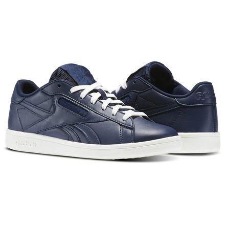 Reebok NPC UK Leather Women's Court Shoes in Collegiate Navy / Chalk