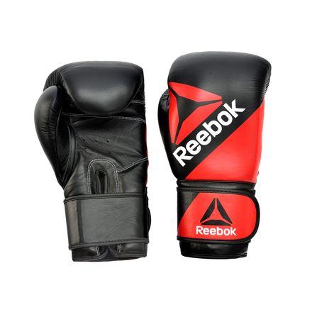 Reebok Leather Unisex Training Glove10oz in Reebok Red / Black