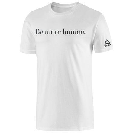 Reebok Be More Human Tee Men's Training T-Shirt in White