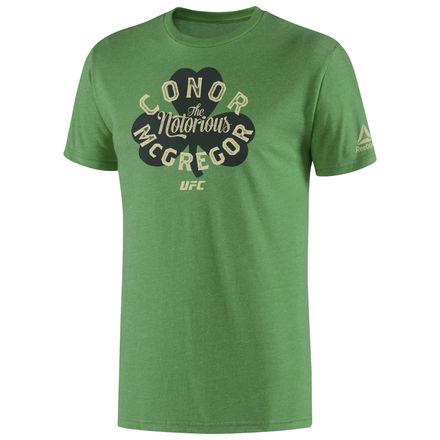 Reebok UFC McGregor Irish Pride Tee Men's Training T-Shirt in Green