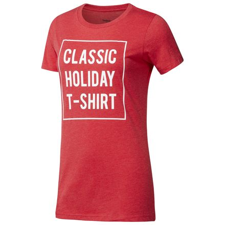 Reebok Classics Holiday Unisex Casual T-Shirt in Red