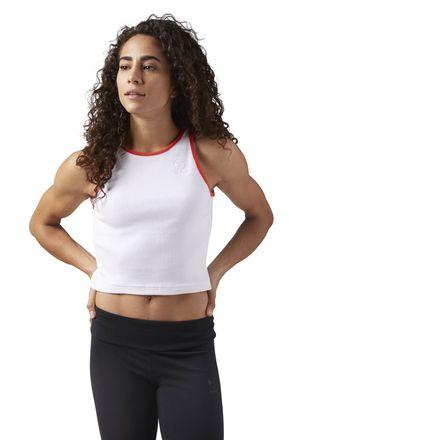 Reebok Rib Women's Casual Tank Top in White