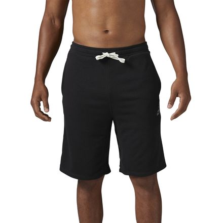 Reebok Elements French Terry Men's Training Action Shorts in Black
