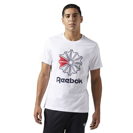 Reebok Classics Graphic Tee Men's Casual Cotton T-Shirt in White