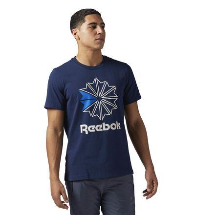Reebok Classics Graphic Tee Men's Casual T-Shirt in Collegiate Navy