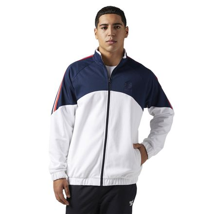 Reebok Classics Men's Casual, Lifestyle Franchise Track Top in White