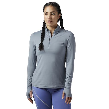 Reebok Running Essentials 1/4 Zip Women's Sweatshirt in Asteroid Dust