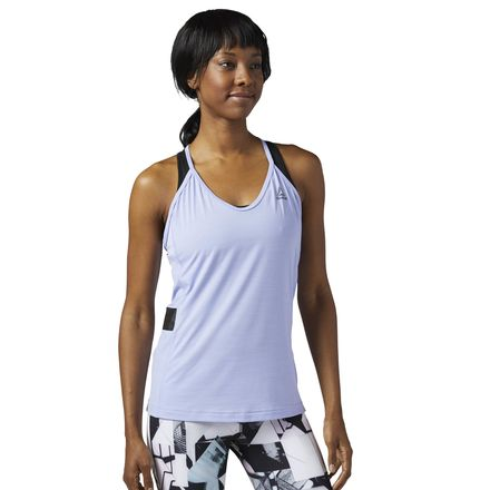 Reebok ACTIVCHILL Tank Top Women's Training Apparel in Lilac Glow