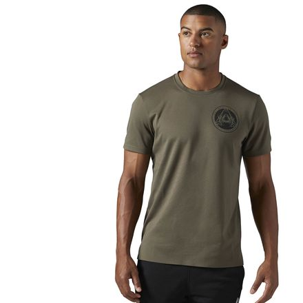 Reebok Heavy Weight Tee Men's Training T-Shirt in Army Green
