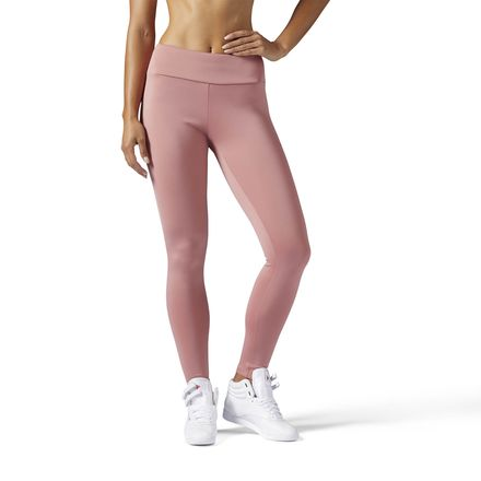 Reebok Classics Leggings Women's Casual Tights in Sandy Rose