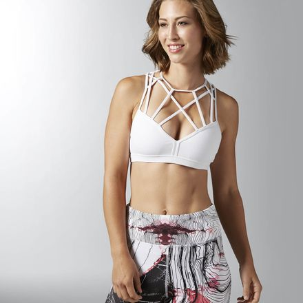Reebok Dance Strappy Bra Women's Studio, Dance in White