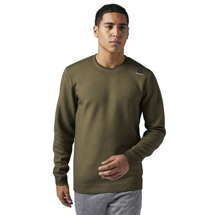 Reebok Dirty Wash Crew Neck Men's Training Sweatshirt in Army Green