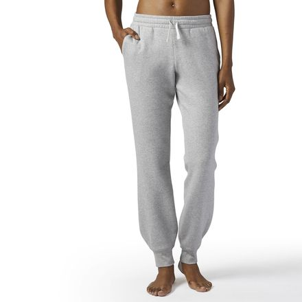 Reebok Elements Women's Training Fleece Sweatpants in Medium Grey Heather