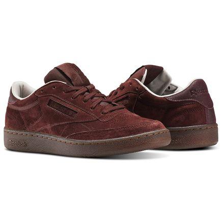 Reebok Club C 85 G Men's Court Sneakers Shoes in Burnt Sienna / Sand Stone / Chalk / Gum