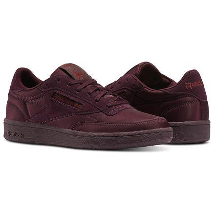 Reebok Club C 85 Soft Women's Court Shoes in Dark Red / Rust Met