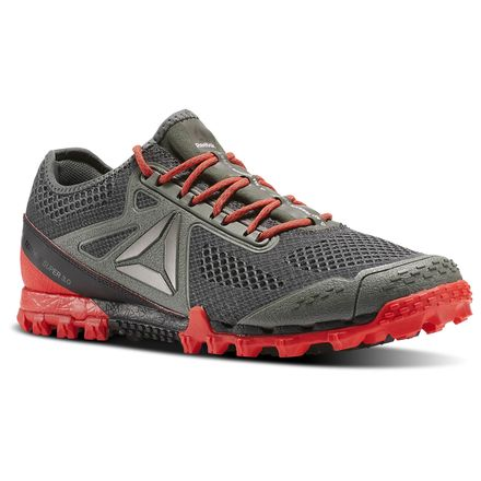 Reebok All Terrain Super 3.0 Men's Running Shoes in Ironstone / Coal / Glow Red / Alloy / Pewter / White