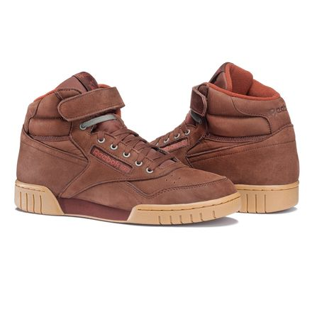 Reebok Ex-O-Fit Plus Hi LG Men's Fitness Shoes in Burnt Sienna / Gum