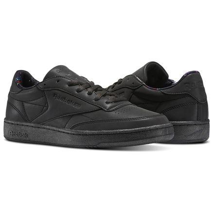 Reebok Club C 85 TDG Men's Court Shoes in Black / Silver Met / Coal
