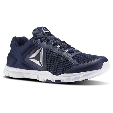 Reebok Yourflex Train 9.0 XWide Men's Training Shoes in Collegiate Navy / White / Silver Metal