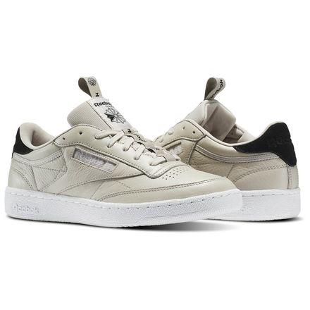 Reebok Club C 85 IT Men's Court Shoes in Sand Stone / Black / White