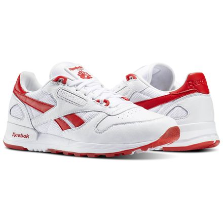 Reebok Classic Leather 2.0 Men's Retro Running Shoes in White / Primal Red