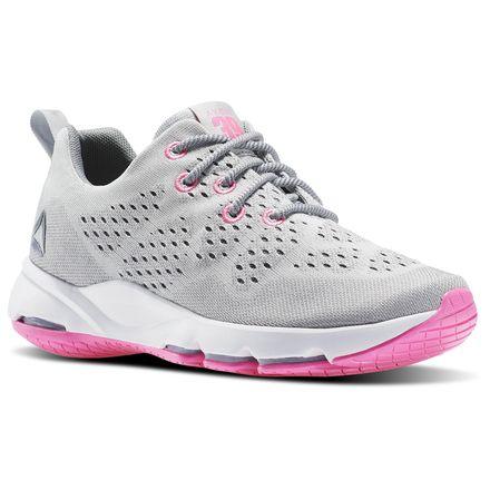 Reebok CloudRide LS DMX Women's Walking Shoes in Skull Grey / Flat Grey / White / Poison Pink