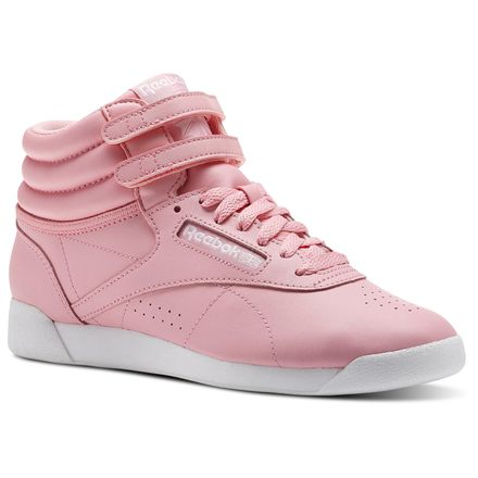 Reebok Freestyle Hi Colors Women's Fitness Shoes in Squad Pink / White