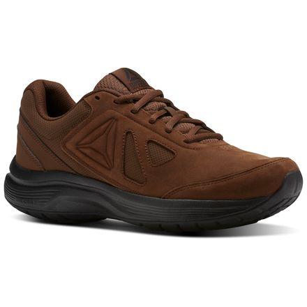 Reebok Walk Ultra 6 DMX Max RG Men's Walking Shoes in Brush Brown / Black
