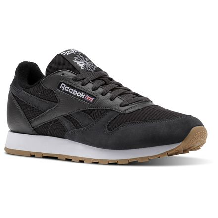Reebok Classic Leather ESTL Men's Retro Running Shoes in Coal / White