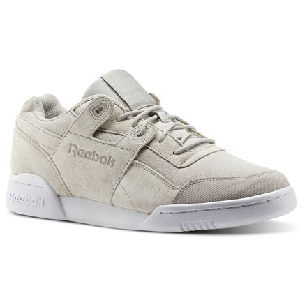 Reebok Workout Plus DYN Unisex Fitness Shoes in Sand Stone / White / Chalk Pink
