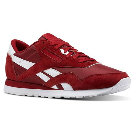 Reebok Classic Nylon PN Unisex Retro Running Shoes in Power Red