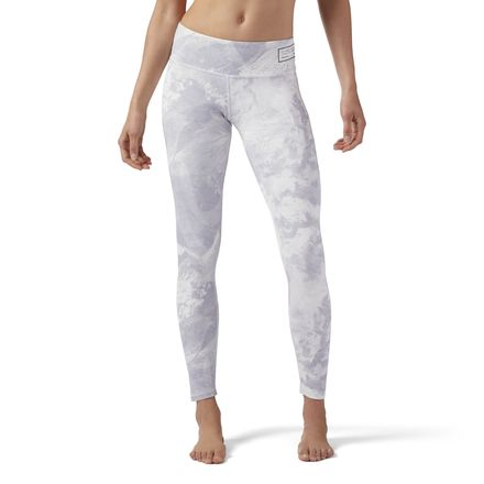 Reebok Combat PrimeLuxBold Women's Tights Leggings in Chalk