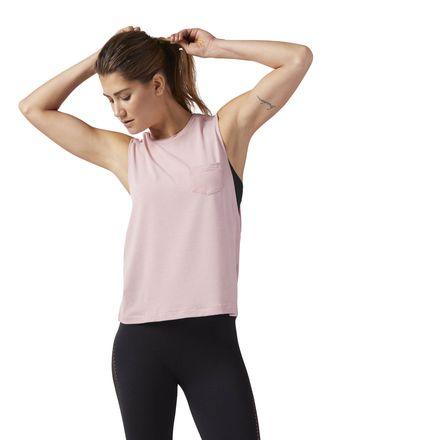 Reebok Nature X Women's Dance, Studio Muscle Tank in Chalk Pink