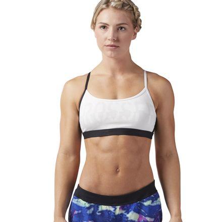 Reebok CrossFit Women's Training Strappy Bra in Chalk / Black