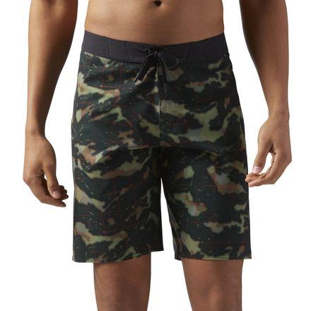 Reebok CrossFit Splash Camo Men's Training Shorts in Army Green