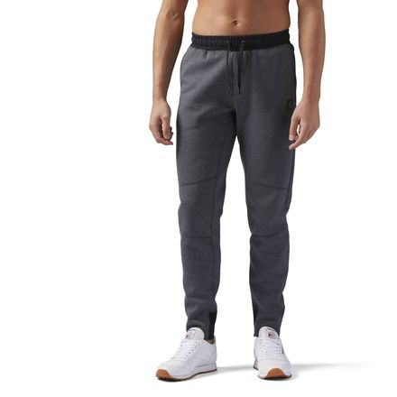 Reebok Training Supply Men's Knit Jogger Pants in Dark Grey