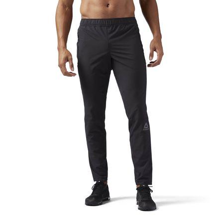 Reebok Speedwick Men's Training Woven Trackster Pants in Black