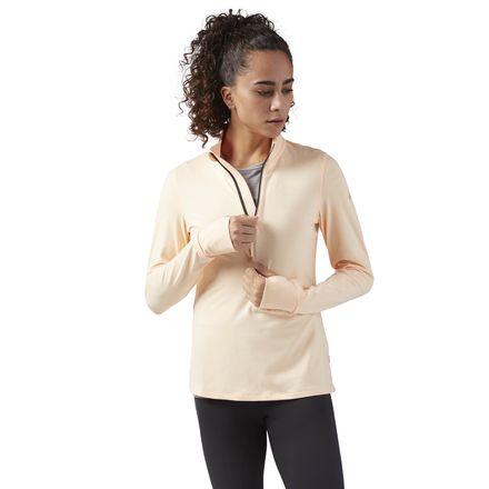 Reebok Women's Running 1/4 Zip Jacket in Desert Glow