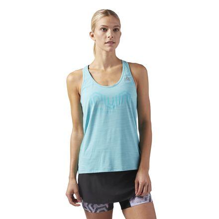 Reebok ACTIVCHILL Women's Running Cooling Tank Top in Turquoise