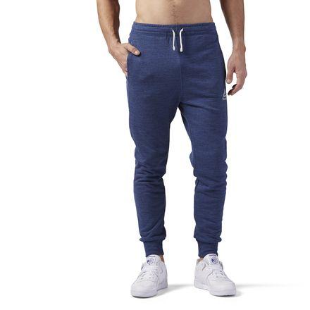 Reebok Elements Men's Training Marble Melange Jogger Pants in Washed Blue